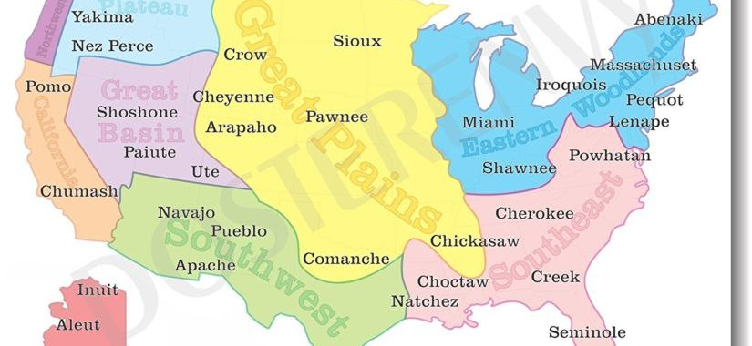 FIRST INDIGENOUS MAP OF ITS KIND US MAP DISPLAYS OUR OWN NAMES